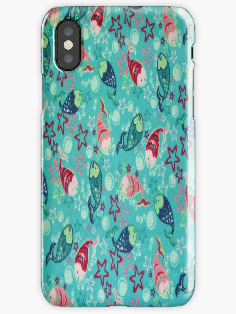 Fun Fish iPhone 4 & 4s Case by purplesensation