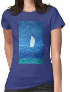 Ghost Sail  Womens Fitted T-Shirt