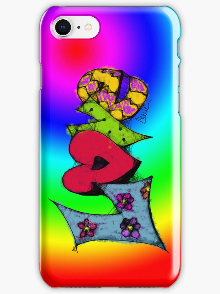 Scribbler Love iPhone Case by Cherie Balowski
