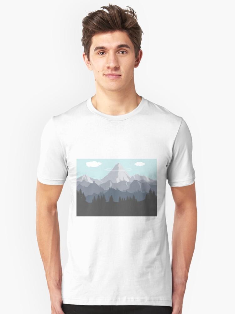 Flat Landscape Unisex T-Shirt Front