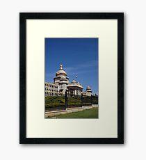 Vidhana Soudha; Bangaluru; Karnataka; India Framed Print