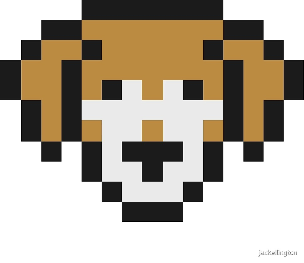 Pixel Dog by jackellington