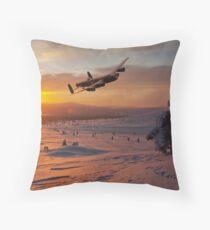 A Winter Sortie Throw Pillow