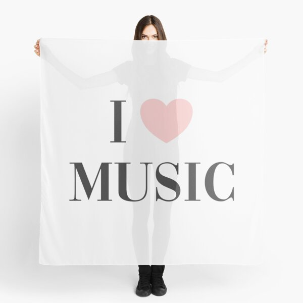 I love music  Scarf