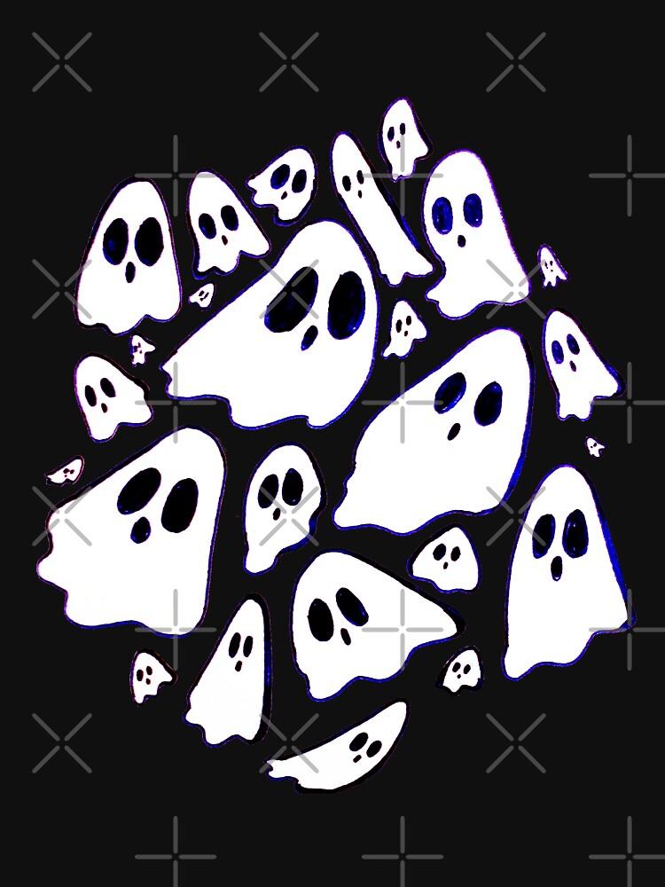Inktober Ghosts  by seasofstars
