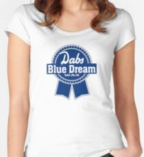Dabs Blue Dream Women's Fitted Scoop T-Shirt