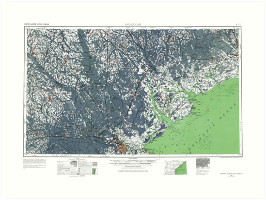 Savannah Georgia Map by parmarmedia