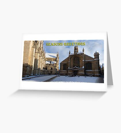 Seasons greeting from York Minster Greeting Card