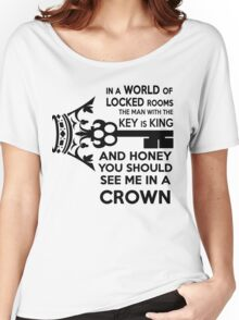 Moriarty Key Quote - Black Text Women's Relaxed Fit T-Shirt