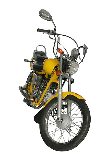Yellow motorbike by fotorobs