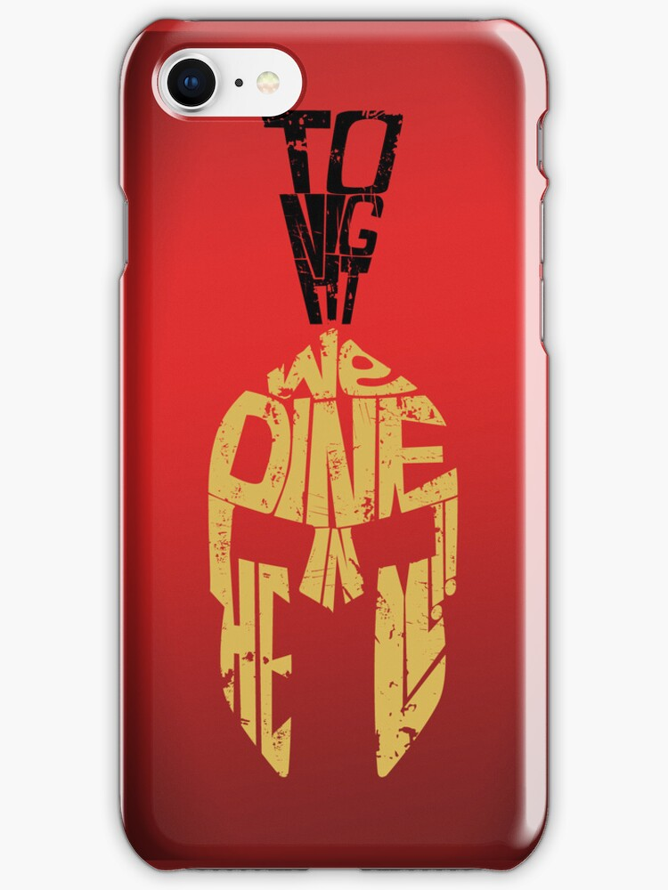 Tonight we dine in HELL!! - iPhone case by D4N13L