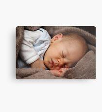 Sleeping baby girl Metal Print