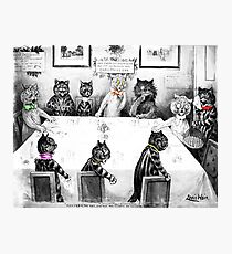 Cats Christmas Catastrophe by Louis Wain Photographic Print