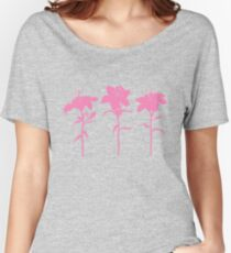 Pink Lilies Women's Relaxed Fit T-Shirt