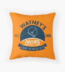 Watney's martian survival camp Throw Pillow