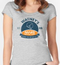 Watney's martian survival camp Women's Fitted Scoop T-Shirt