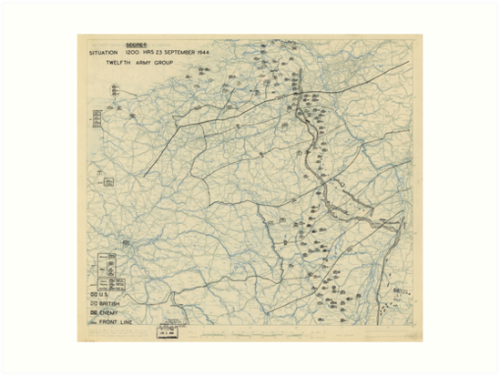 World War II Twelfth Army Group Situation Map September 23 1944 by allhistory
