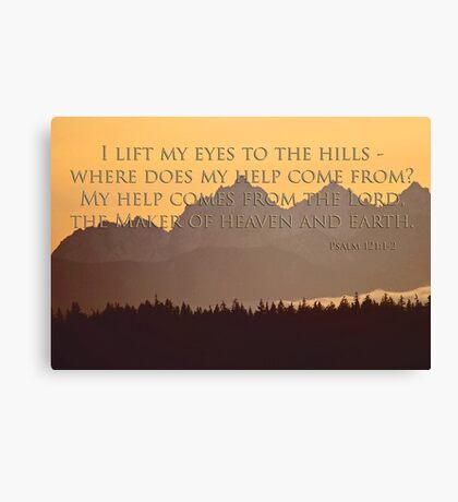 olympics sunset with psalm 121:1-2 Canvas Print