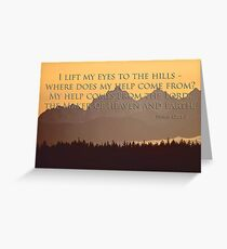 olympics sunset with psalm 121:1-2 Greeting Card