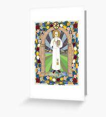 Icon of Pope Saint John Paul II Greeting Card