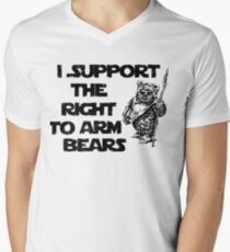 I Support the Right to Arm Bears Men's V-Neck T-Shirt