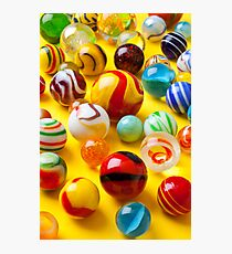 Lots of colorful marbles Photographic Print