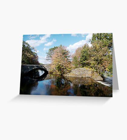 Stone Bridge in Autumn Greeting Card