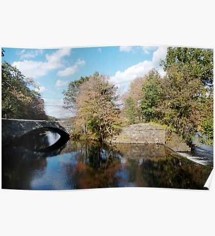 Stone Bridge in Autumn Poster