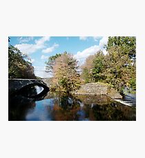 Stone Bridge in Autumn Photographic Print