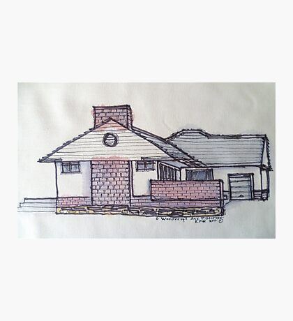 6 Woodcroft Ave St Georges Adelaide. Pen and wash on fabric. Photographic Print