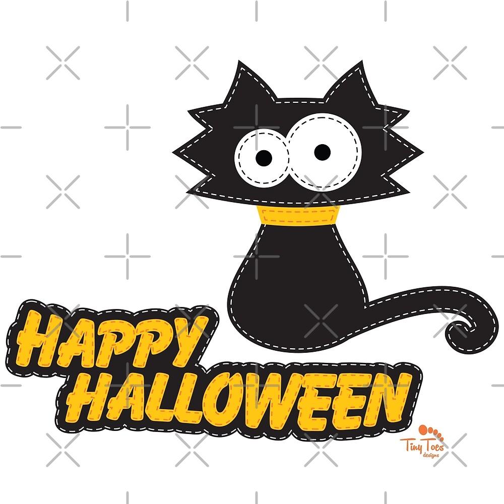 Black Cat Happy Hallowen by BadCatDesigns