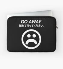 Go Away (white) Laptop Sleeve
