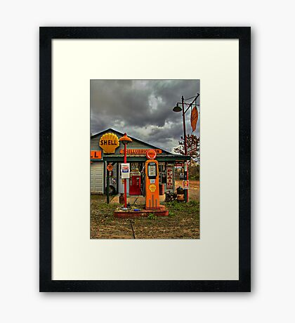 Americana at It's Best- SHELL Gasoline Framed Print