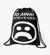 Go Away (white) Drawstring Bag