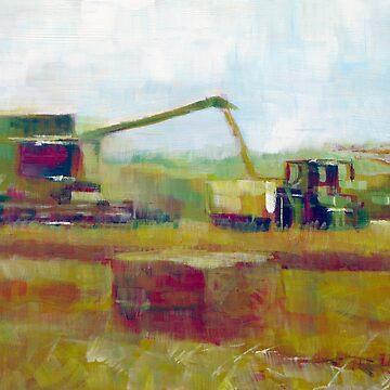 Harvest: Abstract Landscape by SamDurkin