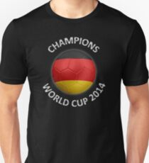 Germany - World Cup Champions 2014 - German Flag Football Soccer Ball Unisex T-Shirt