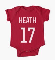 Body de manga corta para bebé Tobin Heath # 17