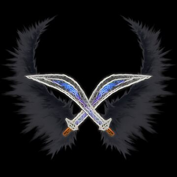 Dark Pit ~ Wings & Silver Bow by Natios