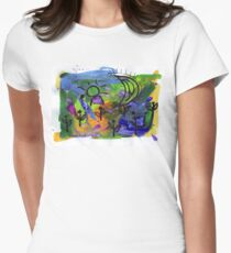 Midnight Garden cycle1 6 Women's Fitted T-Shirt