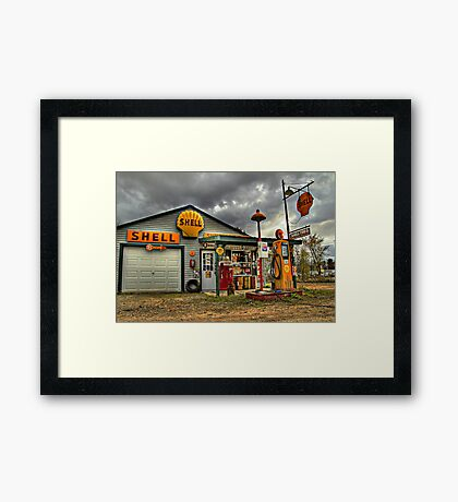 Shell Gas - Filler up Framed Print