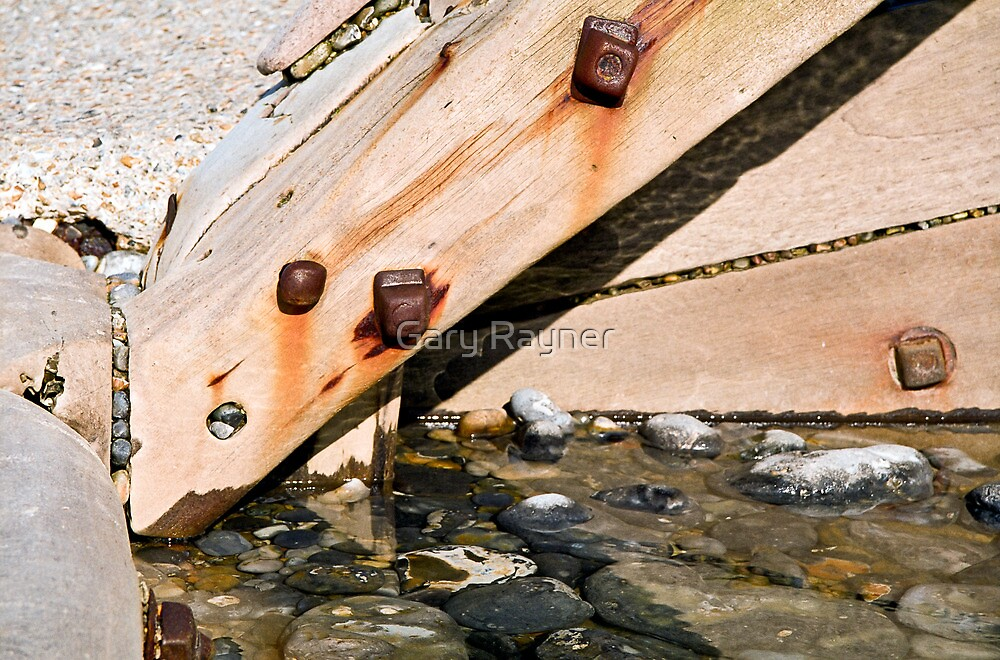 Detail of Sea defences by Gary Rayner