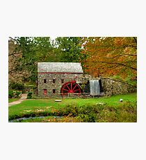 Grist Mill at Wayside Inn Photographic Print