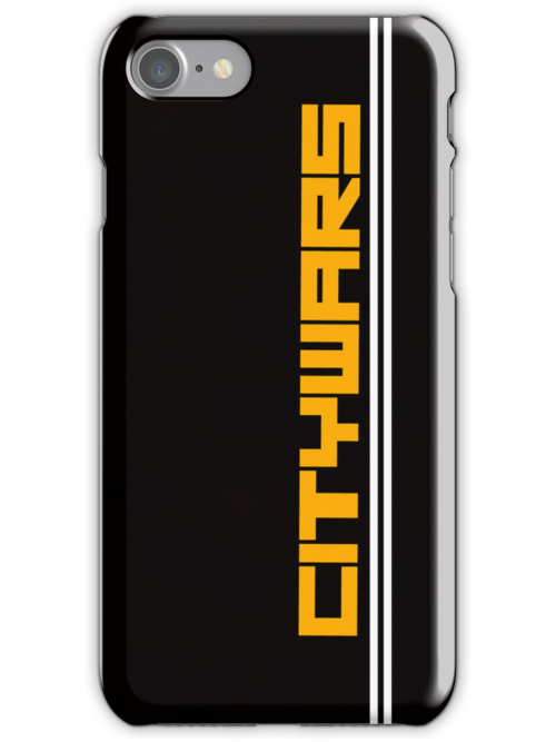 Citywars.ca Iphone Case (Black Background) by Kndbro