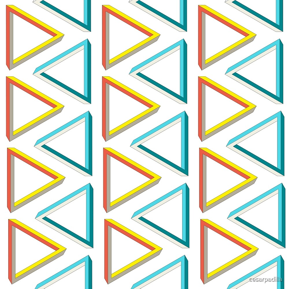 Ultra geeky impossible triangle pattern. by cesarpadilla