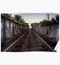 Railroad Bridge - Gainesville, FL Poster