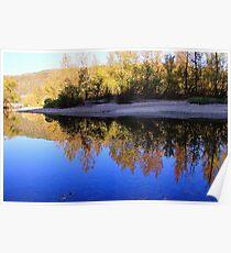 Cobalt Sky, Autumn Reflections Buffalo National River Poster