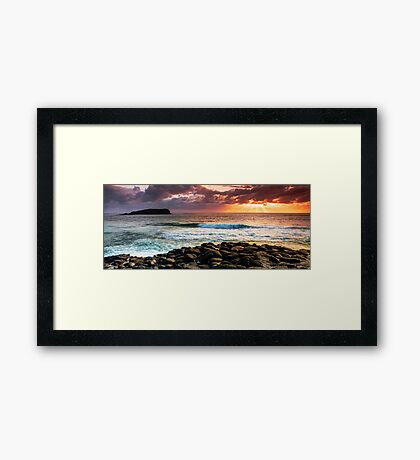 Panorama - Morning Warmth Framed Print