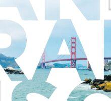 San Francisco Picture Word Sticker