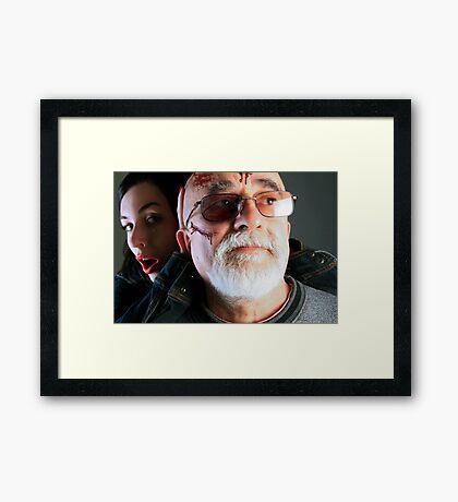 Elderly Abuse Framed Print
