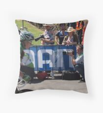 Photographing Photographers. Green watching Green. Throw Pillow